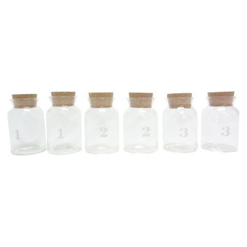 Threshold™ Glass Spice Jars with Cork and Lid Set of 6 (Medium)