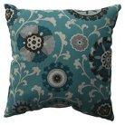 """Floral Vine Lumbar Toss Pillow - Teal (11.5x18.5"""")"""