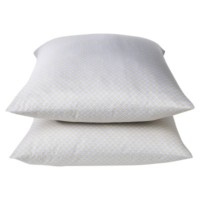 Threshold™ Performance Pillowcase Set - Yellow Lattice (King)
