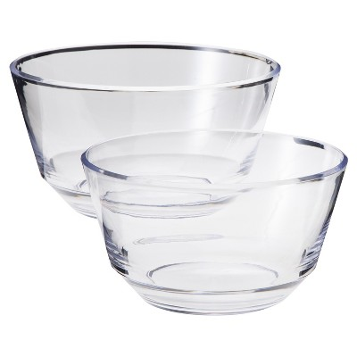 Acrylic Serving Bowl Set of 2 - Clear (Large and Medium) - Room Essentials™