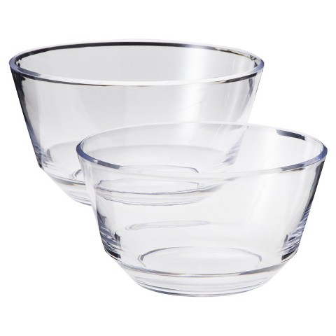Room Essentials® Acrylic Serving Bowl Set of 2 - Clear (Large and Medium)