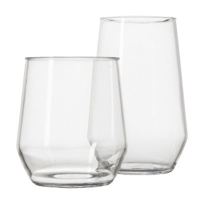 Room Essentials® Stemless Wine Glass Set of 8 - Clear (Large/Small)