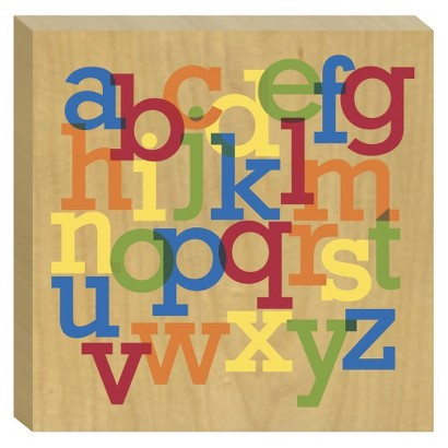 Flushmount - Birch - Alphabet Jumble