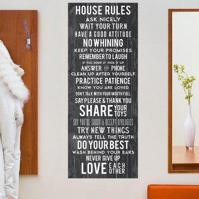 House Rules Typography Decal