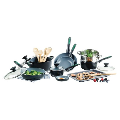 GREEN PAN RIO 18 PIECE COOKSET
