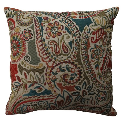 Stitched Paisley Throw Pillow Collection