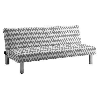 Chevron Sofa Bed Gray White Tar