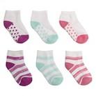 Girls' 6pk Low Cut Socks - Frolic Pink