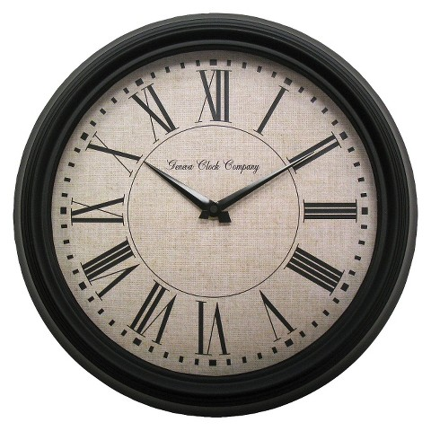 "Geneva Metal Wall Clock - Black (13.8"")"