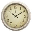 "Geneva Distressed Wall Clock - White (15.5"")"