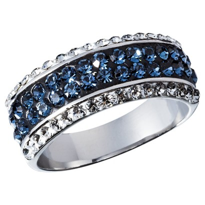 Cubic Zirconia Right Hand Ring - Blue