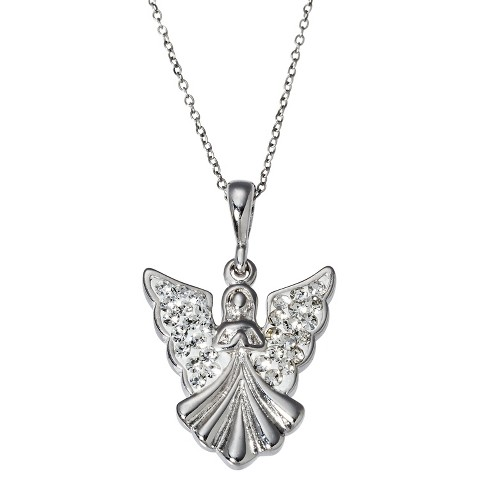 Angel Pendant Necklace - Silver