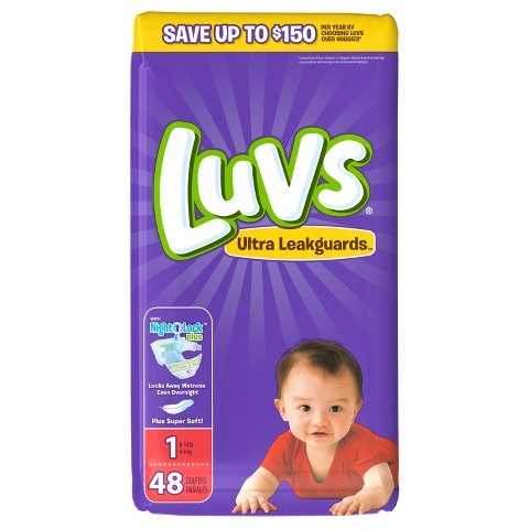 Luvs Baby Diapers Jumbo Pack (Select Size)
