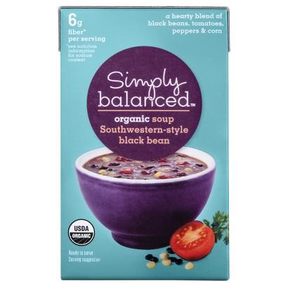 Simply Balanced Organic Southwestern-Style Black Bean Soup 17.3 oz