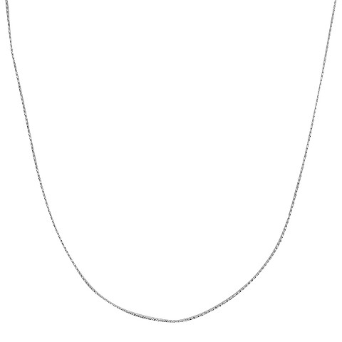 "Sterling Silver Serpentine Chain Necklace - Silver (16"")"