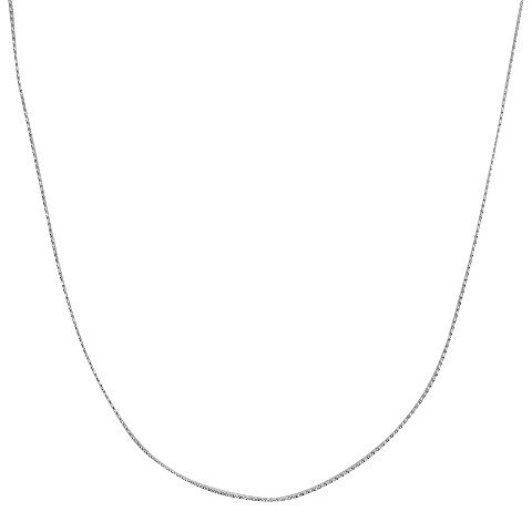 "Sterling Silver Serpentine Chain Necklace - Silver (18+2"")"