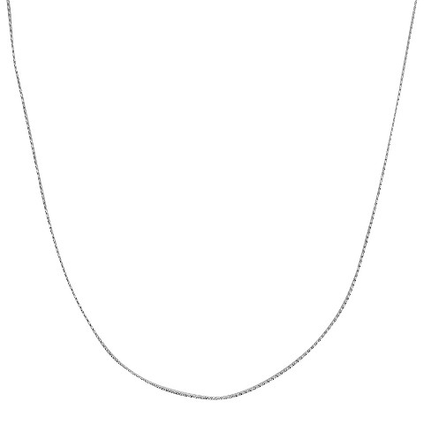 """Sterling Silver Serpentine Chain Necklace - Silver (24"""")"""