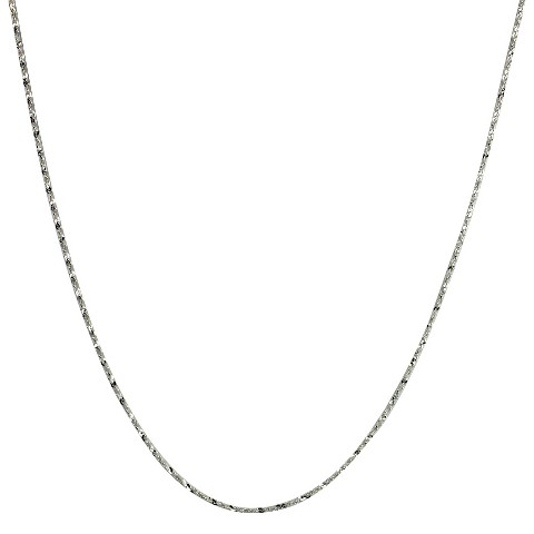 "Sterling Silver Twist Serpentine Spool Chain Necklace - Silver (16"")"