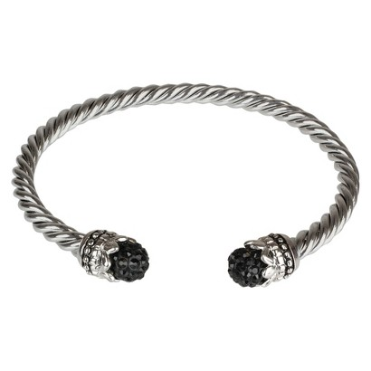 Fireball Crystal 4mm Cable Chain - Black (6mm)