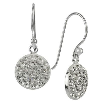 Crystal Drop Dangle Earring - Silver