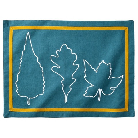 Threshold™ Leaf Placemat Set of 4 - Blue