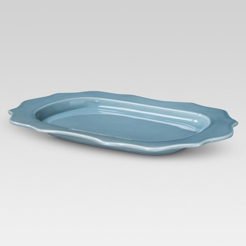 Threshold™ Wellsbridge Aqua Rimmed Platter