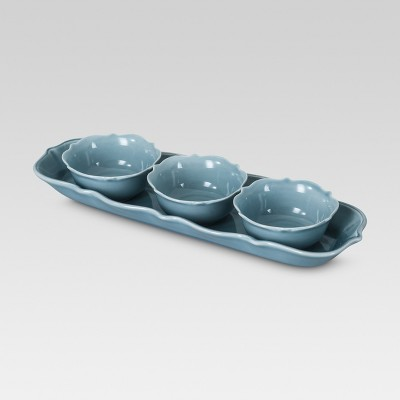 Threshold™ Wellsbridge Aqua Tasting Set of 4
