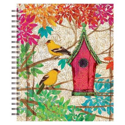 Artisan Spiral Bound Sketchbook -  Garden Birdhouse