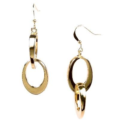 Brass Drop Earrings - Gold