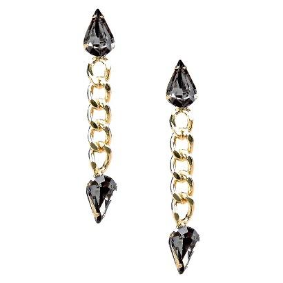 Dangle Earrings - Gold/Grey