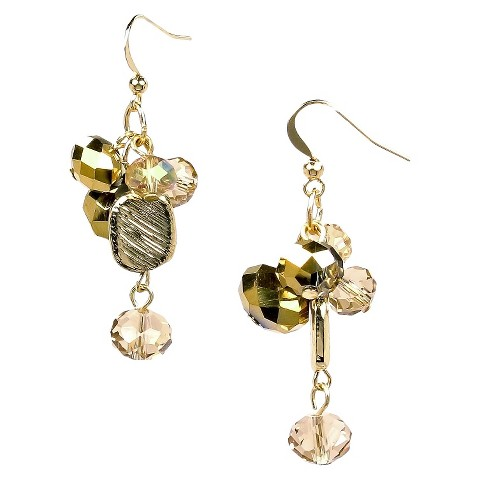 Dangle Earrings Antique - Gold/Clear