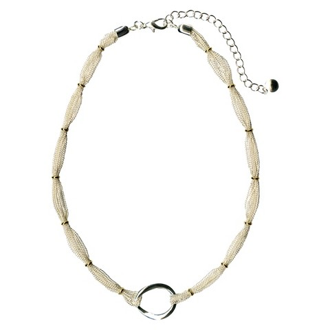 Mesh Station Necklace - Silver