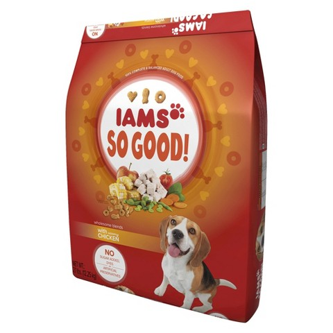 Iams So Good Wholesome Blends with Savory Chicken Dry Dog Food 27 lb