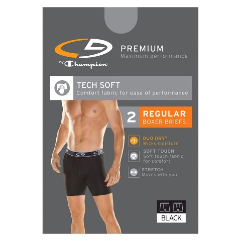 C9 by Champion® Men's 2 pk Boxer Briefs - Black