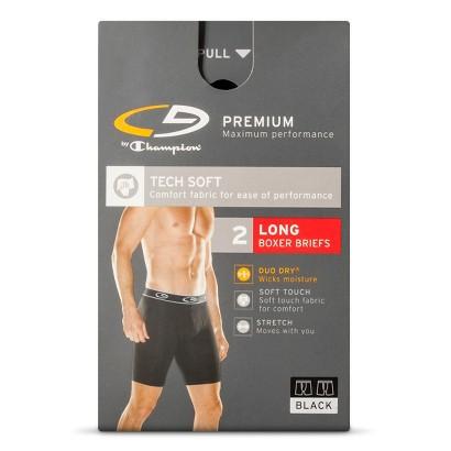 C9 by Champion® Men's 2 pk Long Boxer Briefs - Black