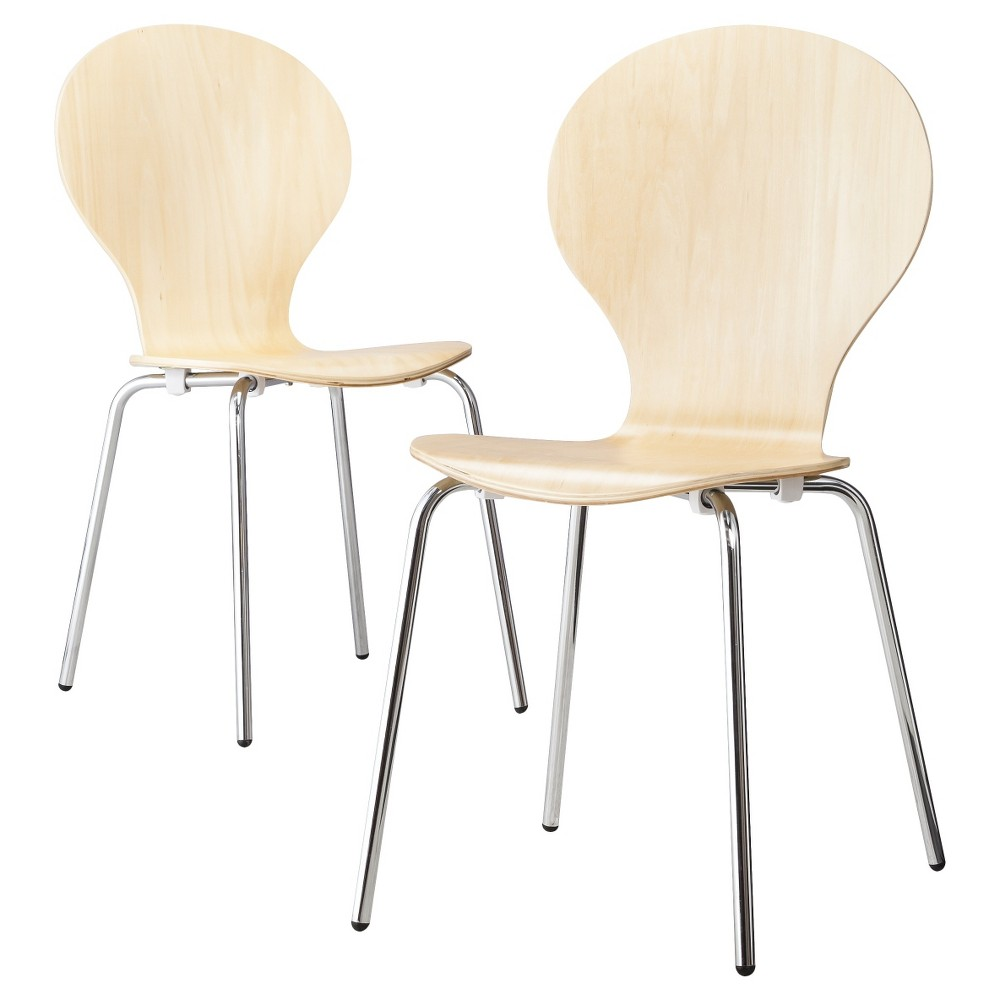 MODERN STACKING CHAIR (SET OF 2)