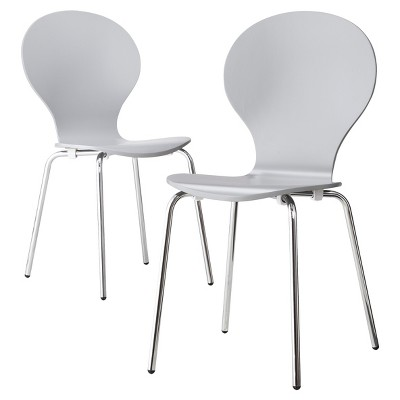 Porter Modern Stacking Chair - Gray (Set of 2)