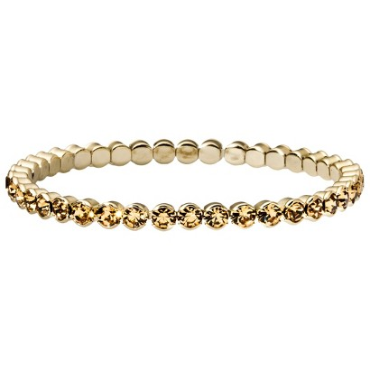 Capsule by Cära Bangle Bracelet with Small Topaz Rhinestones - Gold