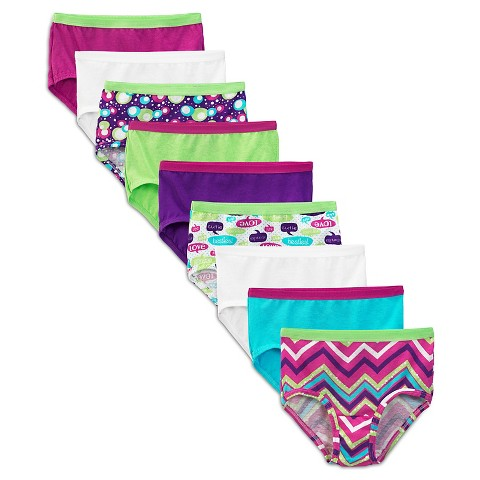 Fruit Of The Loom® Girls' 9 +2 Free Cotton Brief -  Assorted