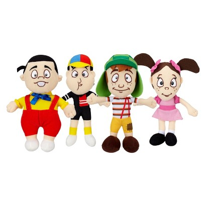 El Chavo Mini Soft Plush Dolls - Pack of 4