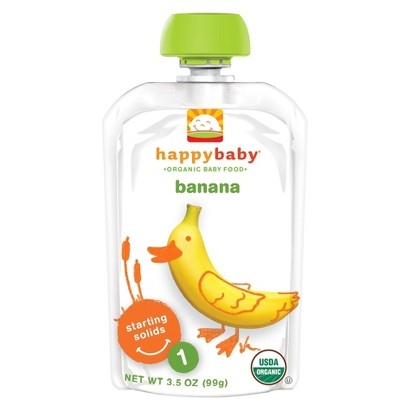 Happy Baby Fruit Pouch - Banana 3.5 oz (8 Pack)