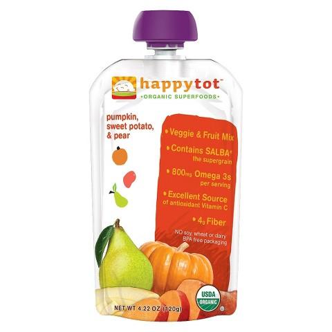 Happy Baby Food Pouch - Pumpkin, Sweet Potato, & Pear 4.22oz (8 Pack)
