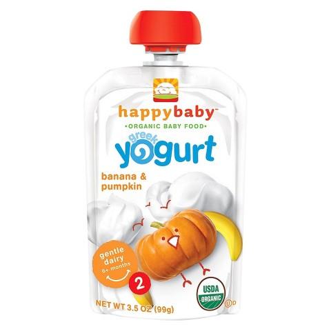 Happy Baby Greek Yogurt Pouch - Banana & Pumpkin 3.5oz (8 Pack)