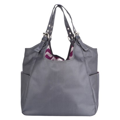 JP Lizzy Diaper Bag Satchel - Graphite Blush