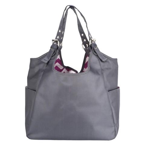 JP Lizzy Diaper Bag Satchel - Graphite Blush