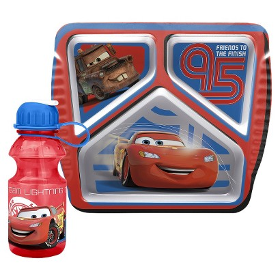 Disney® Cars Divided Plate and Water Bottle Set