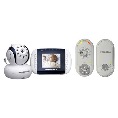 "Motorola 2.8"" Video Baby Monitor + FREE Audio Baby Monitor"