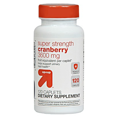 up&up Cranberry Super Strength 3600 mg Caplets - 120 Count