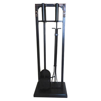 Threshold™ Riveted Fireplace Toolset - Black/Brushed Bronze