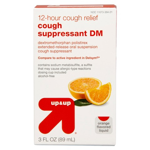 Cough Suppressant DM 12 - Hour Orange Liquid - 3 oz - up & up™